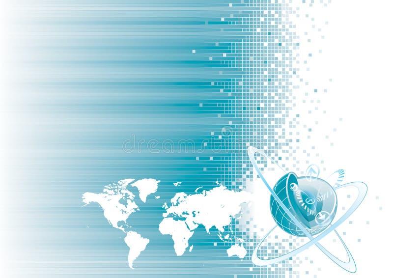 global kommunikation vektor illustrationer