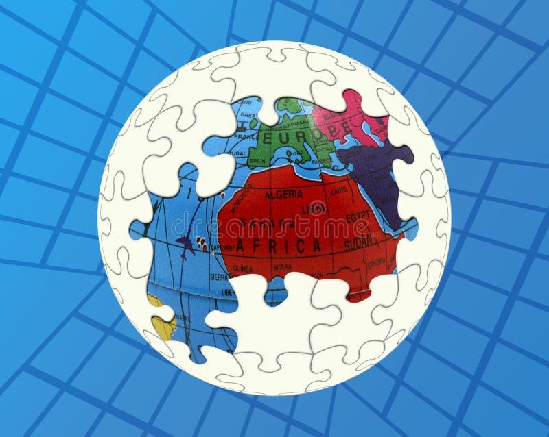 global lösning stock illustrationer