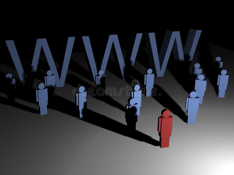 Global leadership. A global partnership with a team leader vector illustration