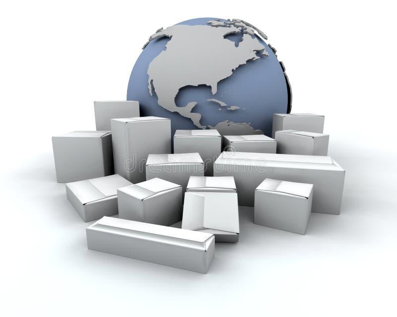 global leverans royaltyfri illustrationer
