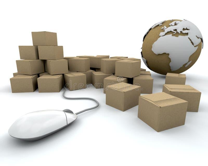 global leverans stock illustrationer
