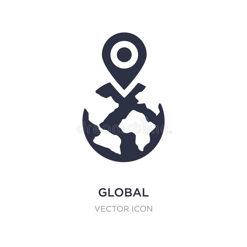 global localization icon on white background. Simple element illustration from Networking concept royalty free illustration