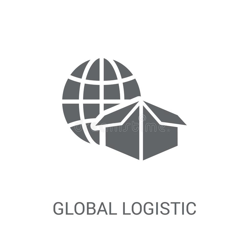 Global Logistic icon. Trendy Global Logistic logo concept on white background from Delivery and logistics collection vector illustration