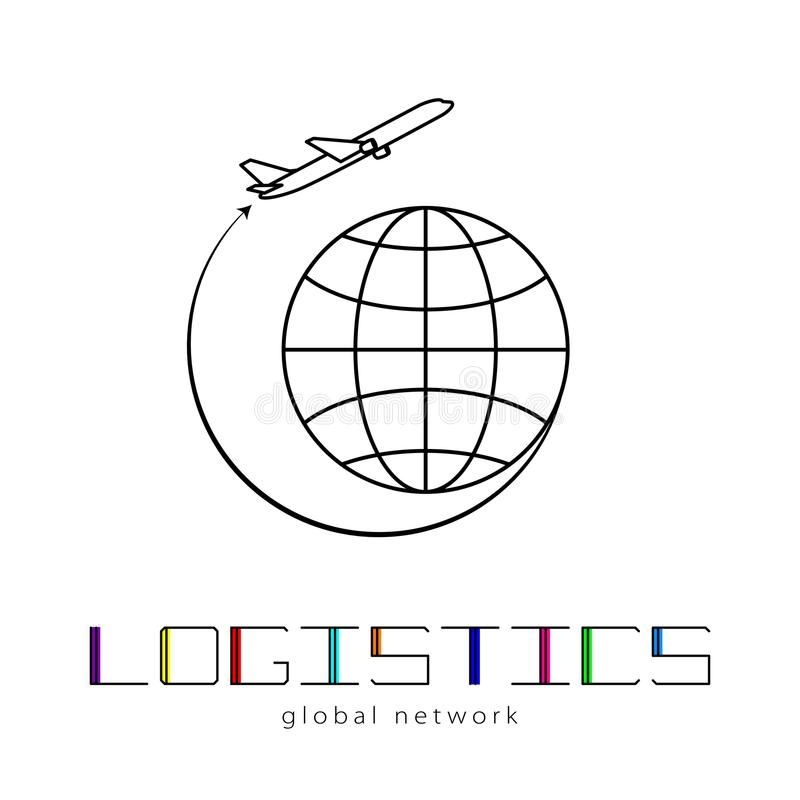 Global logistics network map global logistics partnership royalty free vector download global logistics network map global logistics partnership connection airplane connections network concept and ccuart Image collections