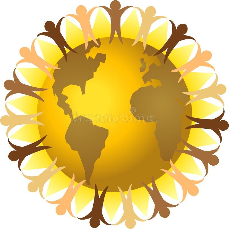 global mångfald eps stock illustrationer