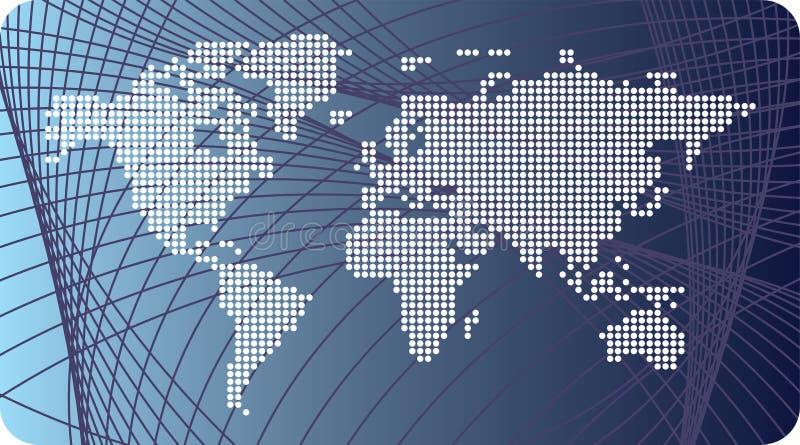 Global map. Illustration on global map on the background royalty free illustration