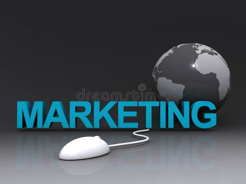 global marknadsföring stock illustrationer