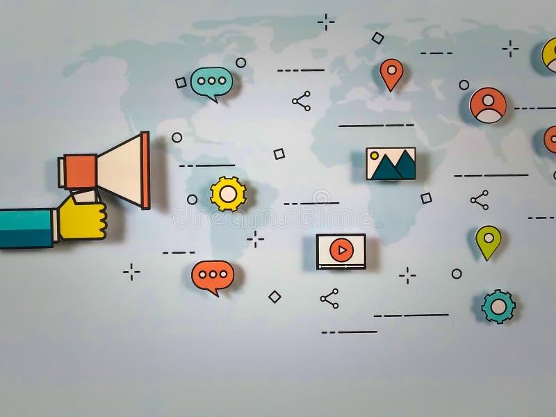 Global marknadsföringsstrategi royaltyfria bilder