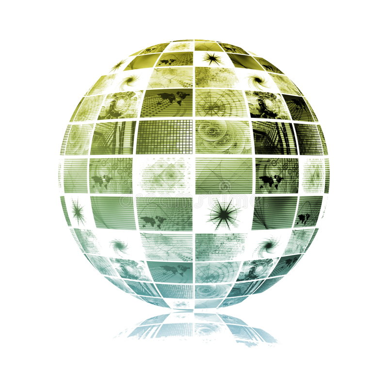Download Global Media Technology World Sphere Stock Illustration - Image: 8163833