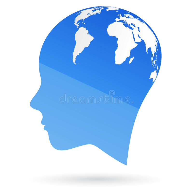 Global mind. Illustration of global mind design isolated on white background royalty free illustration