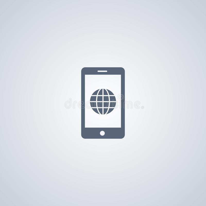 Global mobile, vector best flat icon stock illustration
