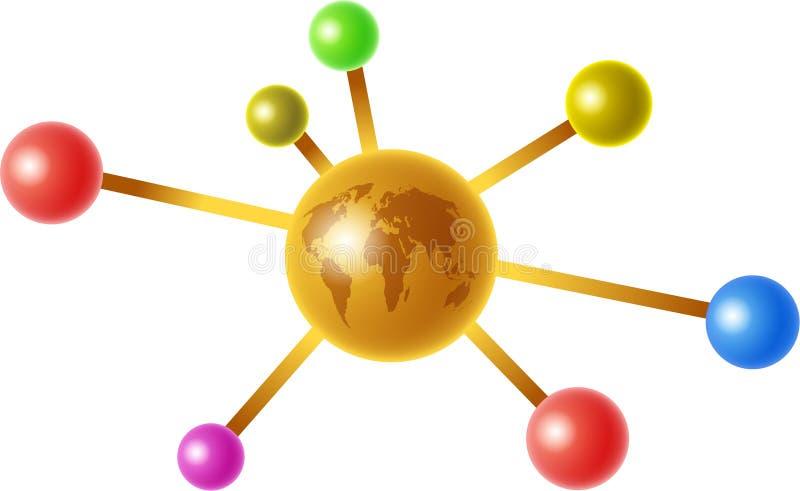 Global molecule royalty free illustration