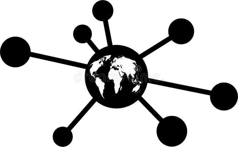Global molecule vector illustration