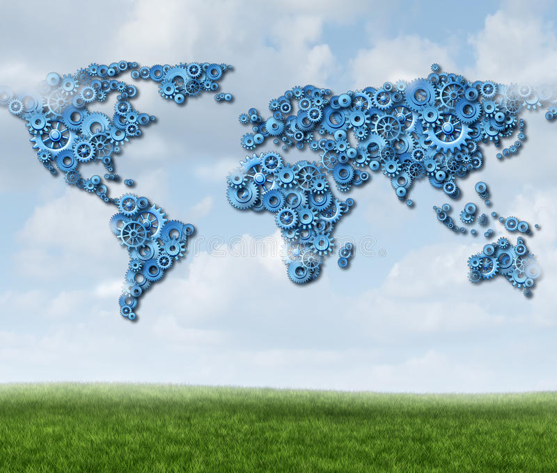 Global molnteknologi stock illustrationer