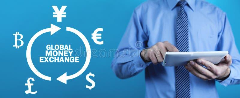 Global money exchange. Business concept stock image