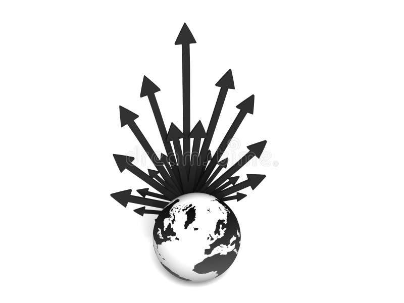 global nätverkande royaltyfri illustrationer