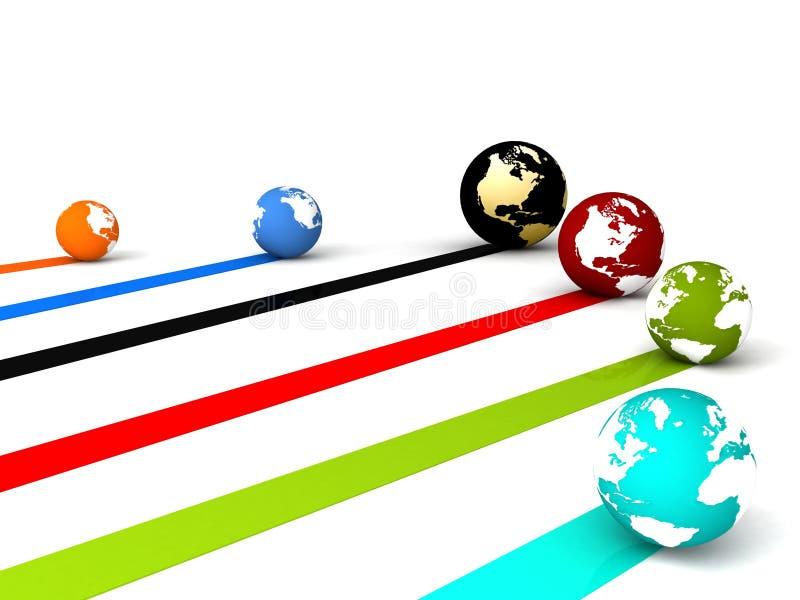 global nätverkande stock illustrationer