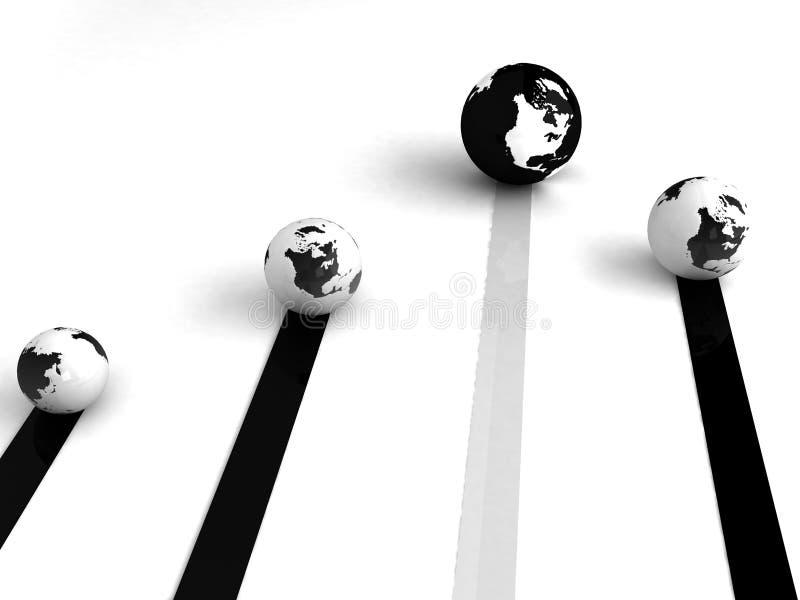 global nätverkande vektor illustrationer