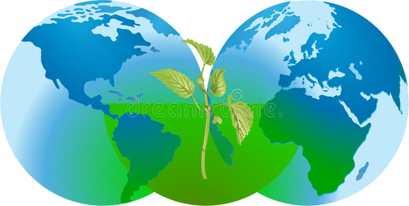 Download Global nature conservation stock vector. Image of recycling - 11190681