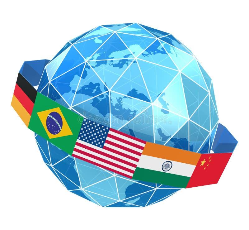 Download Global network stock illustration. Illustration of germany - 21205865