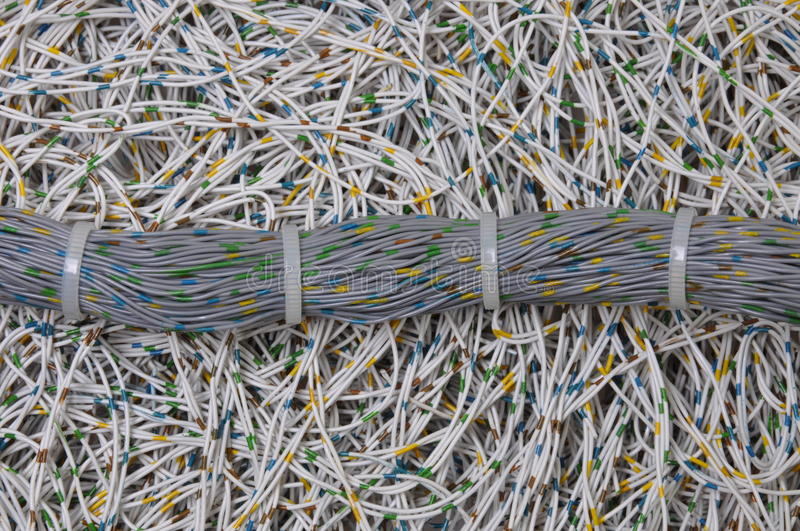 Download Global Network, The Bundle Of Cables Stock Image - Image: 26248611