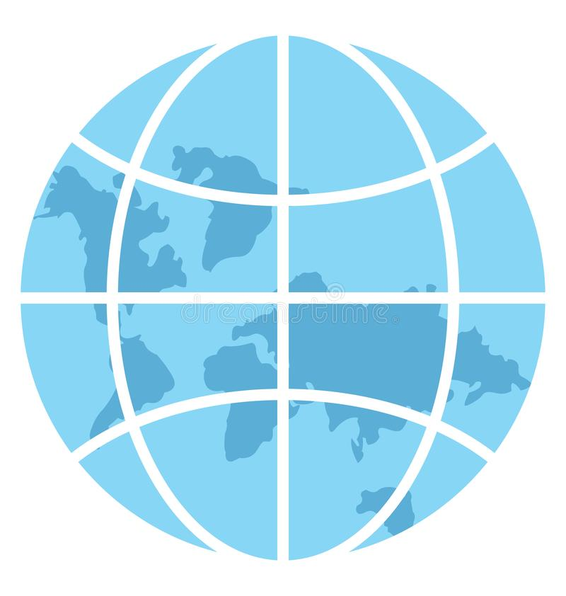 Global Network Color Illustration Vector Icon royalty free illustration