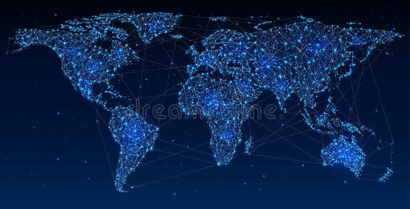 Global Network and Communications royalty free illustration