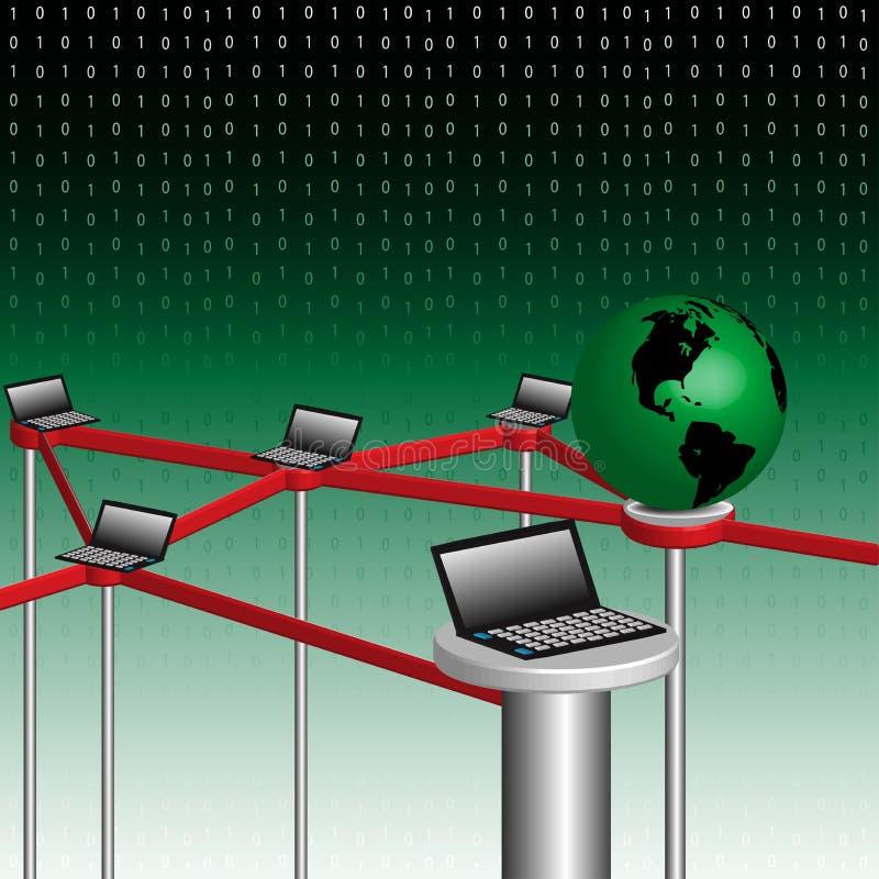 Global network concept stock illustration