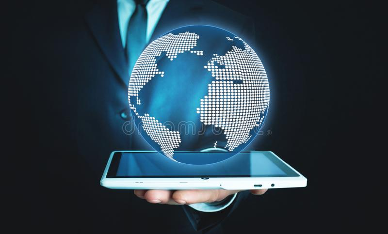 Global network concept. Future technology royalty free stock photography