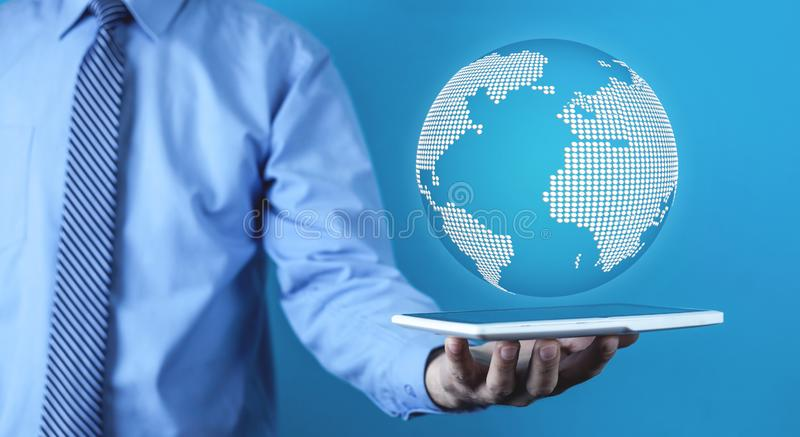 Global network concept. Future technology royalty free stock photo