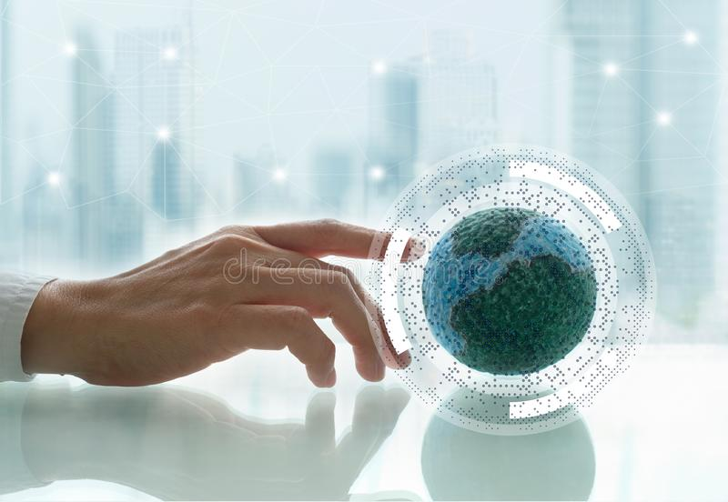 Global network connection concept stock photos
