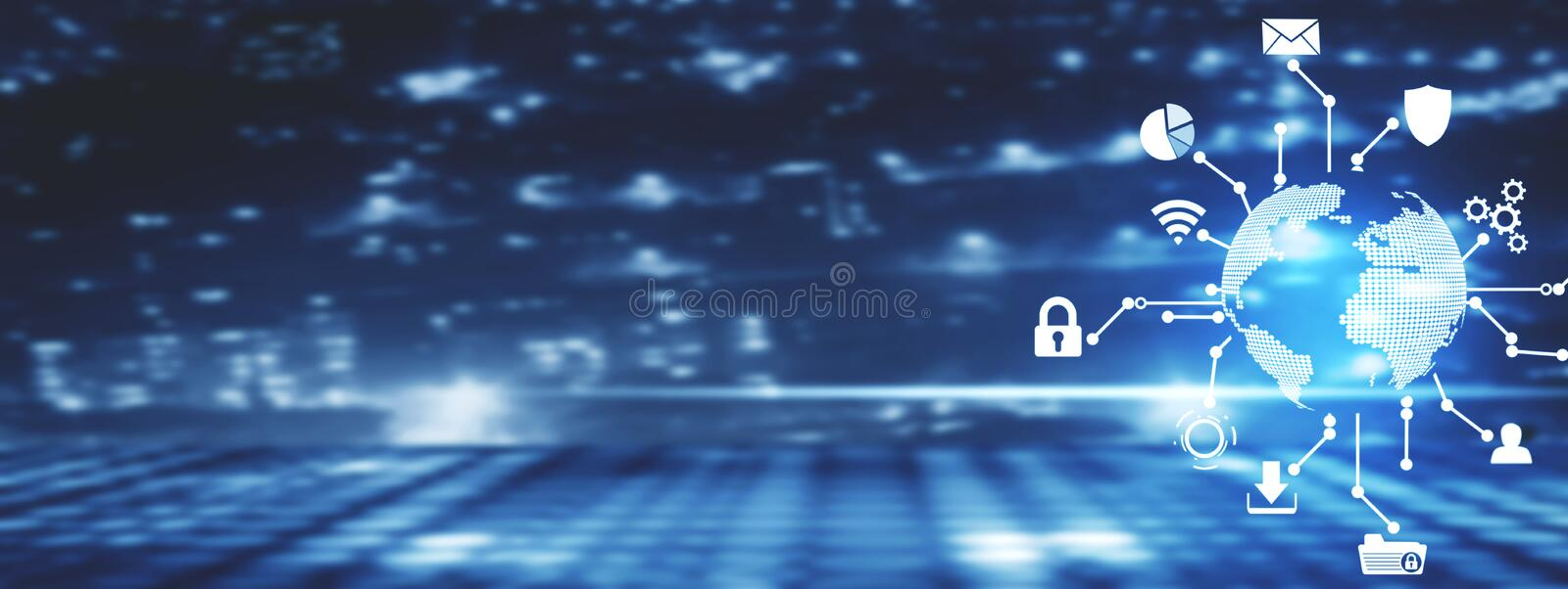 Global network connection. Modern world technology royalty free stock images