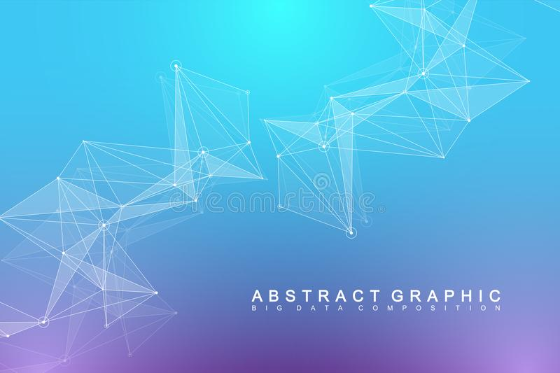 Global network connection. Network and big data visualization background. Futuristic global business. Vector royalty free illustration