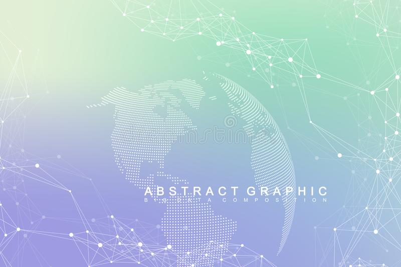 Global network connection. Network and big data visualization background. Global business. Vector Illustration. vector illustration