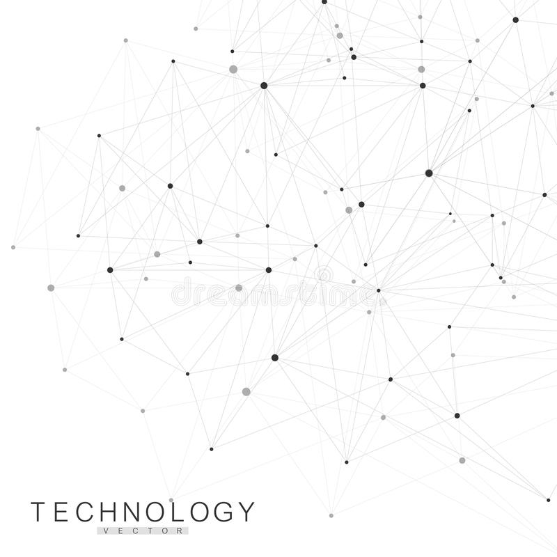 Global network connections with points and lines. Wireframe background. Abstract connection structure. Polygonal space royalty free illustration
