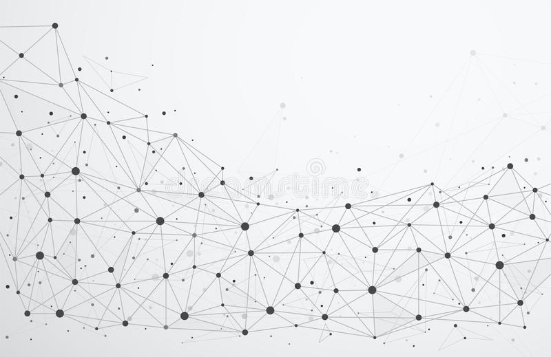 Global network connections with points and lines. vector illustration