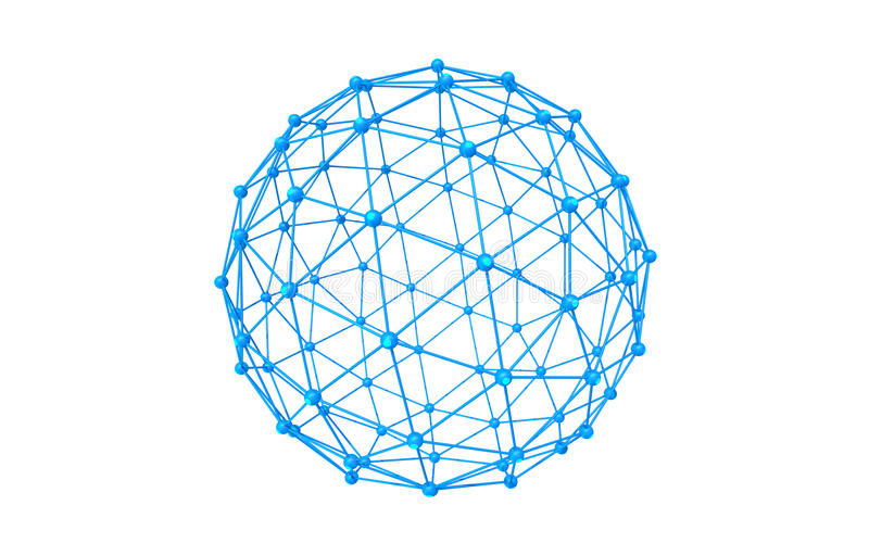 Global network. Icon blue illustration , white background vector illustration