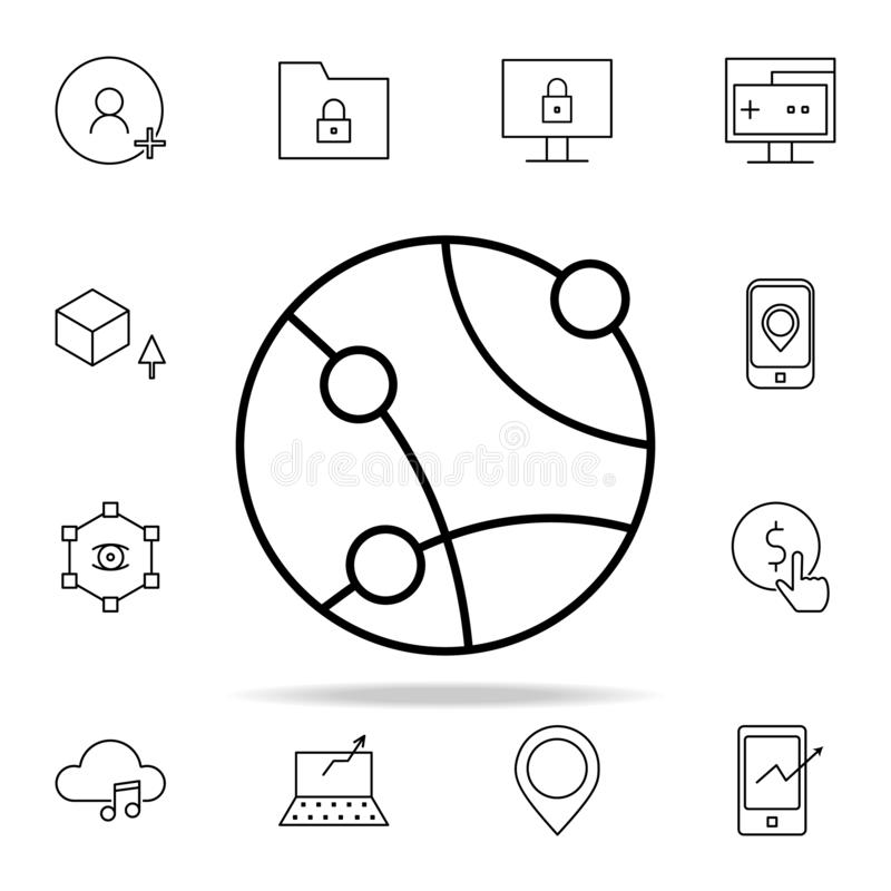 Global network icon. New Technologies icons universal set for web and mobile. On white background stock illustration