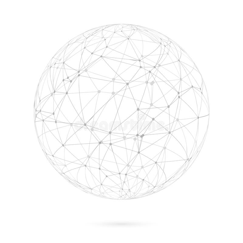 Free Global Network Lines With Dots Connection Vector Background Stock Image - 56798941