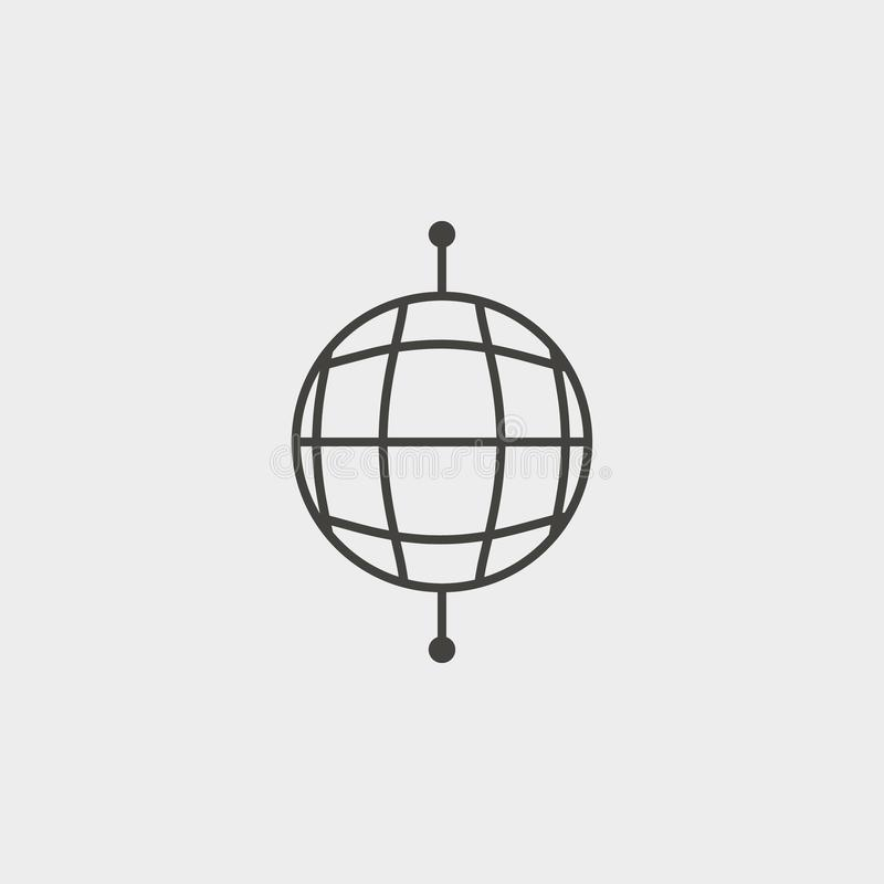 Global, network, outline, icon. Web Development Vector Icon. Element of simple symbol for websites, web design, mobile app, royalty free illustration