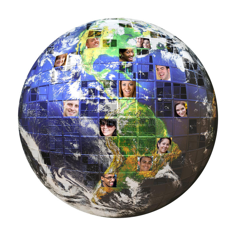 Global Network of People royalty free illustration