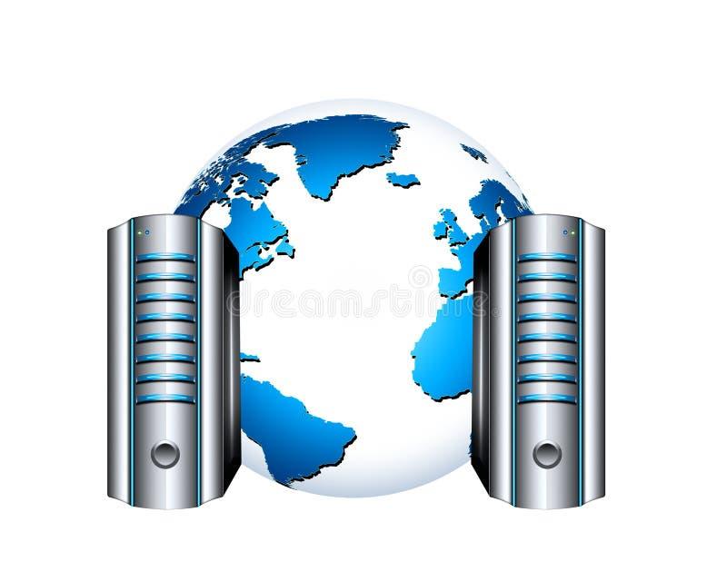 Global networking stock illustration