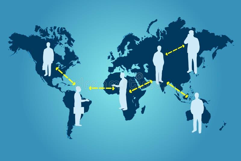 Download Global Networking stock vector. Image of america, hemisphere - 28859007