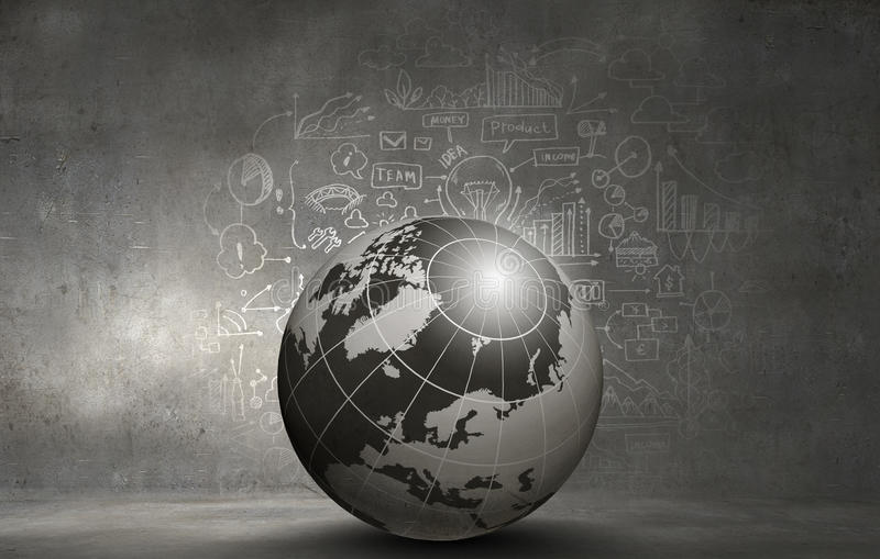 Global networking. Abstract hitech digital background image with globe royalty free stock photos