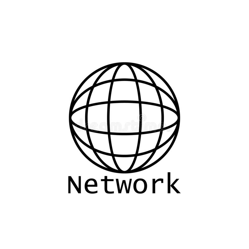 Global networking icon, networking icon royalty free illustration