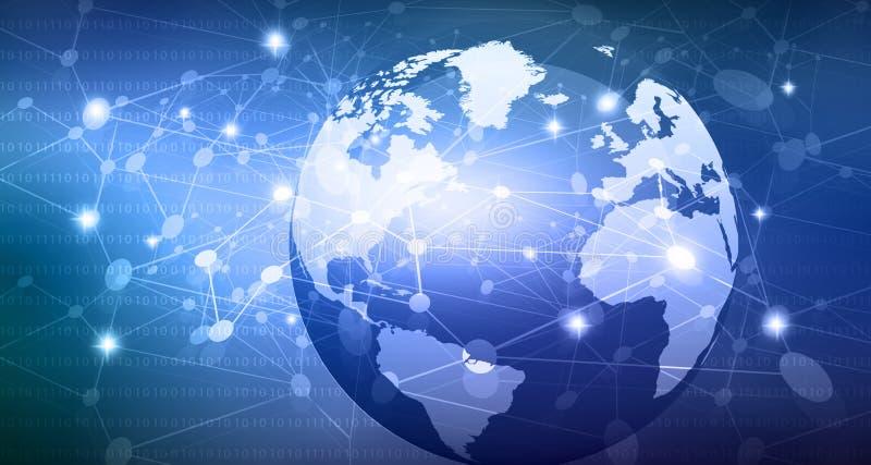 Global Networks vector illustration