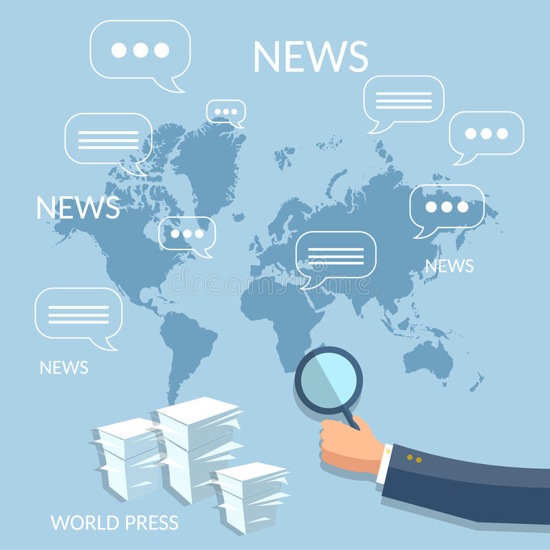 Finance News: Global News Financial Report Concept Corporate Training