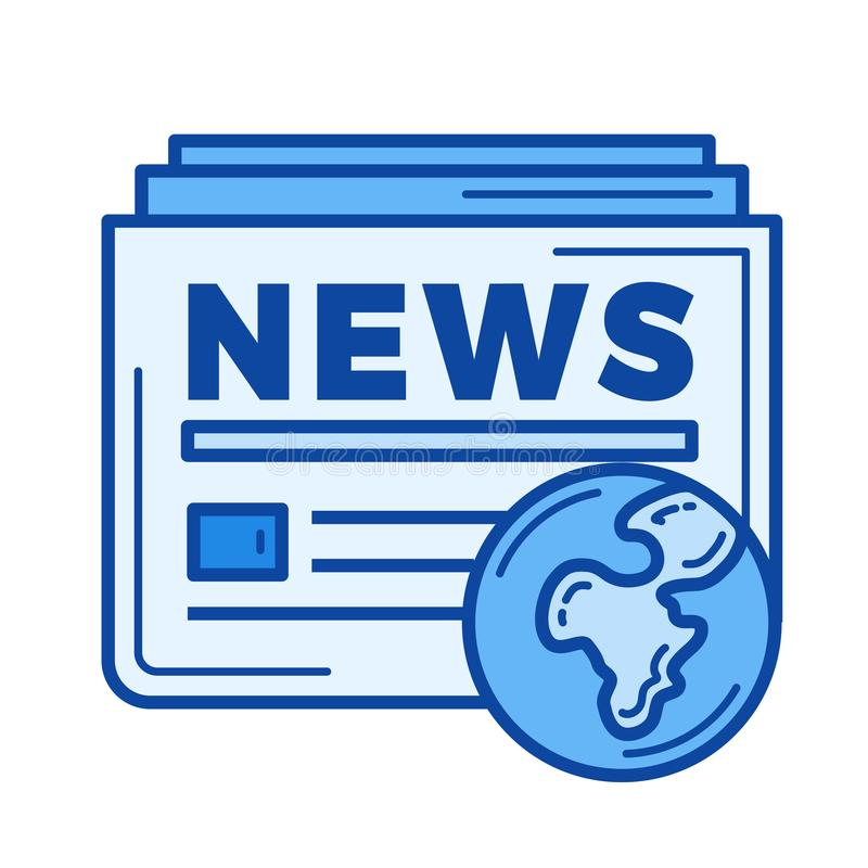 Global nyheternalinje symbol royaltyfri illustrationer