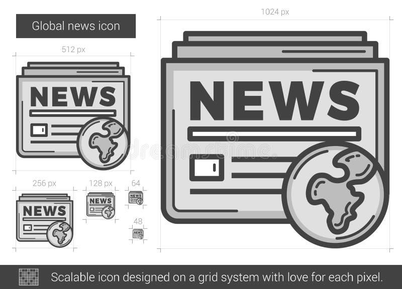Global nyheternalinje symbol vektor illustrationer