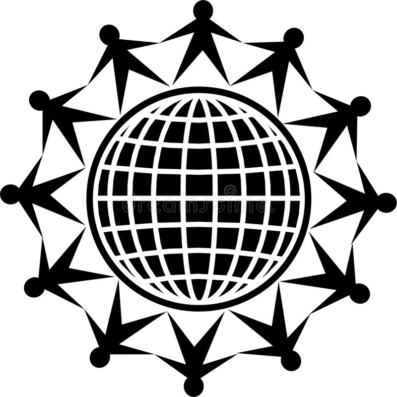 Global people stock illustration